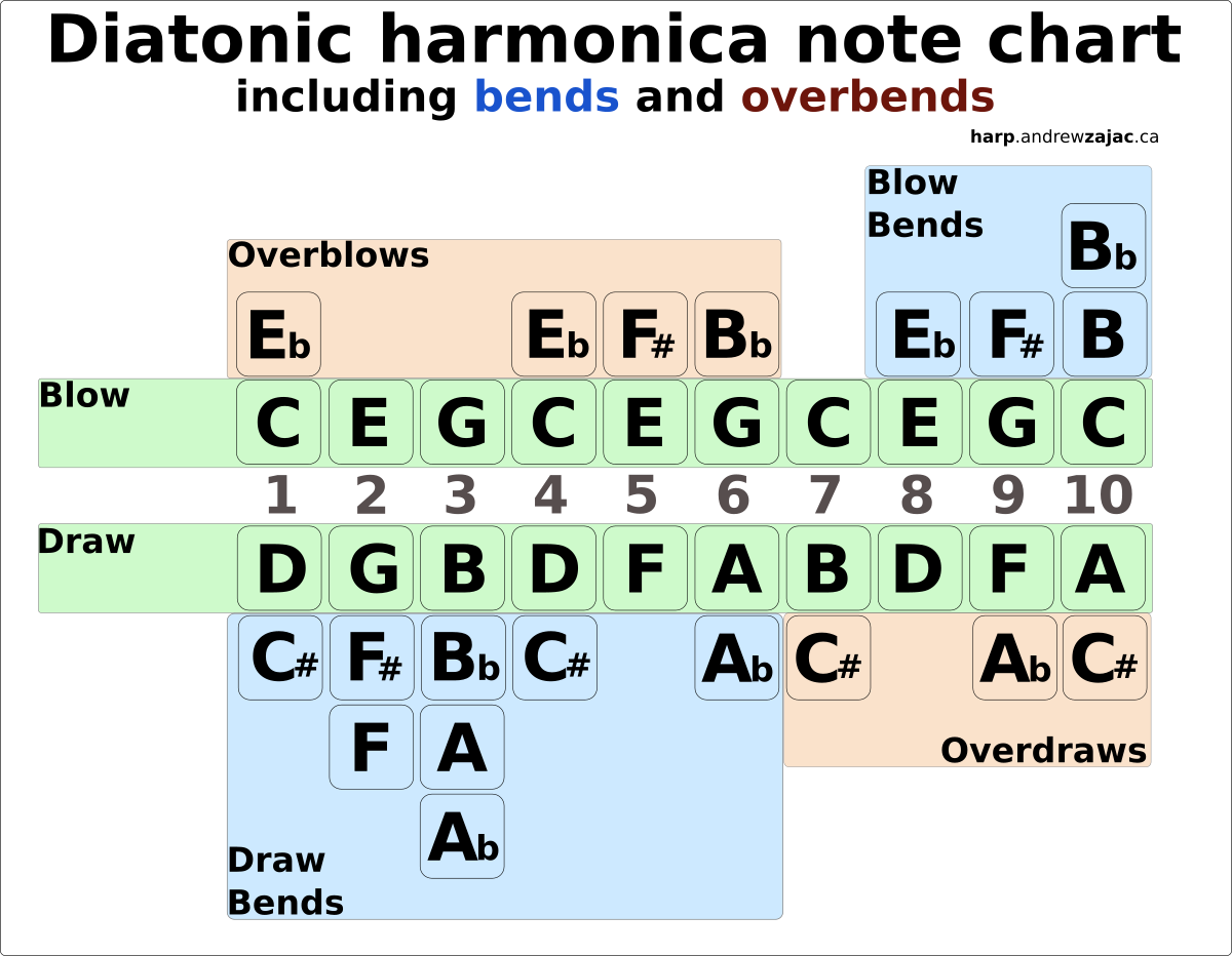 Harmonica Note Cards